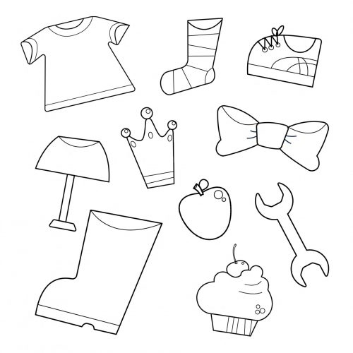 Worksheet-learning to dress-preschool-sets-mathematics-3-6 years old-clothes