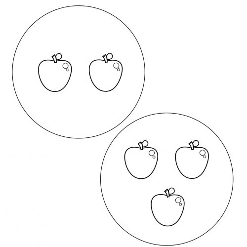 worksheet-math-childhood-4 years-counting-apples